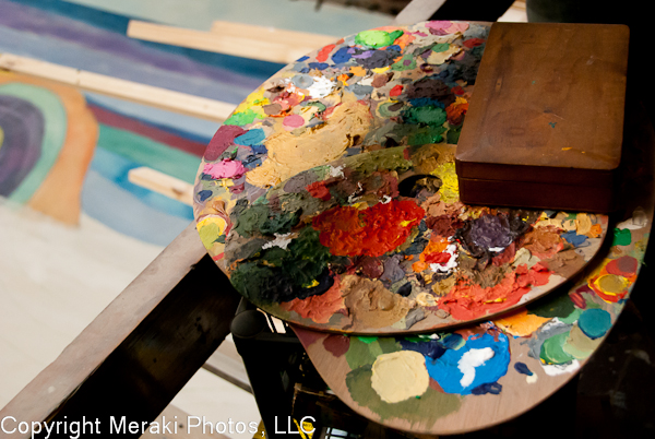 Photo of paint palette.