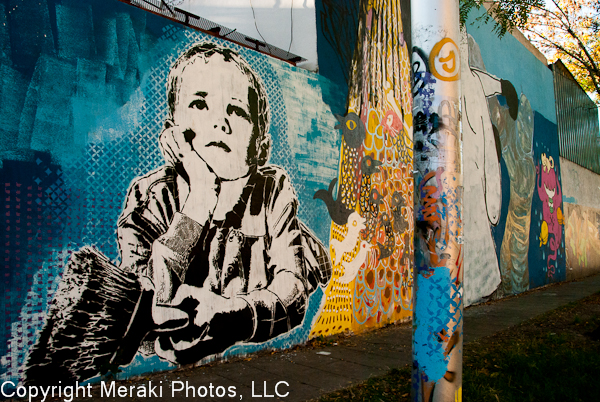 Photos of stencil art