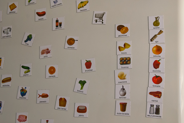 Photo of refrigerator magnets with meal ingredients