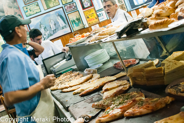 Photo of pizza counter