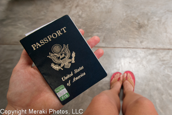 Photo of my passport