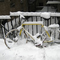 Bike Snow Photo