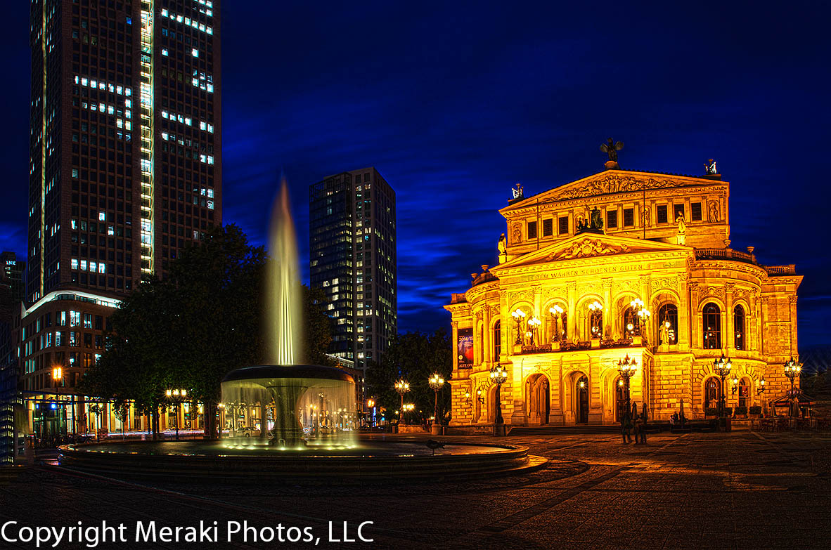 PHOTO:  Frankfurt's Alte Opera at Night