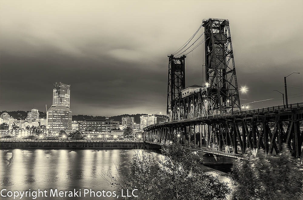 Portland's Bridges at Night